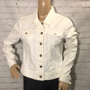 GAP 1969 White Cropped Denim Jean Jacket Jrs M